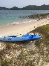 Kayak at Sandy Island.