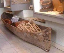 Arawak canoe in the Antigua museum.