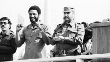 Maurice Bishop , Ortega and Fidel Castro.