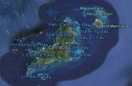 Carriacou and the bays.