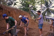Dominica building the community center.