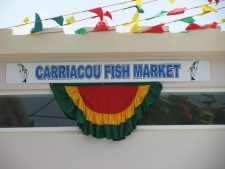 Fish market on Carriacou in Hillsborough.