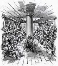 Slave ship inside.
