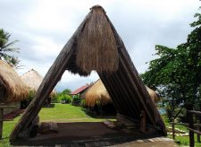 This Ajoupa is a traditional shelter and welcoming landmark at the Kalinago Barana Aute.