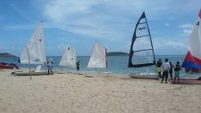 Lesterre Junior Sailing School on Paradise Beach.