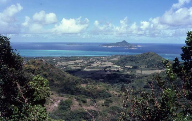 Viewing Petite Martinique from Belair on Carriacou.