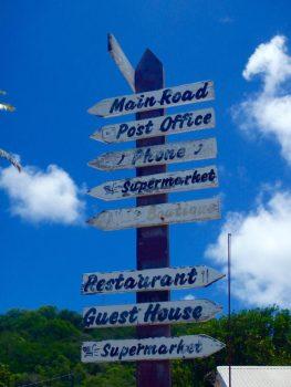 Sign on Petit Martinique.