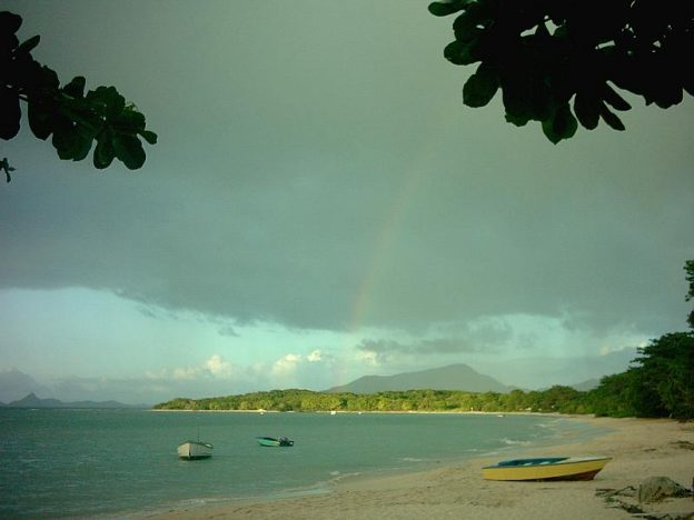 Paradise beach Carriacou, rainbow.