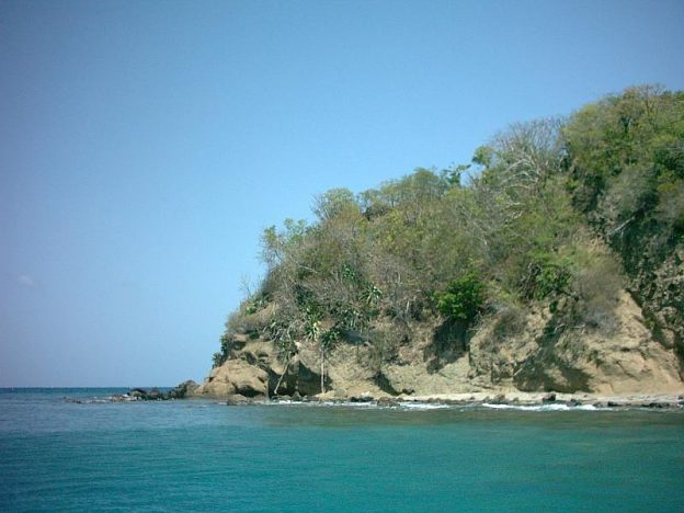 This is the best spot to go snorkling at Anse La Roche.