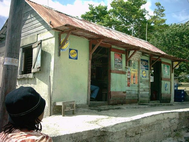 Carib beers for sale in the rumshop.