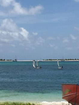 Carriacou Junior sailing school on Paradise Beach.