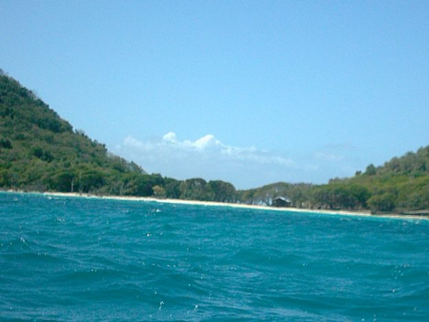 Paradise beach seen from Sandy Island.