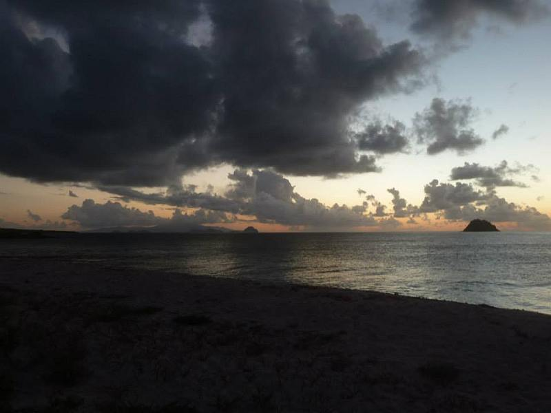 Paradise beach sunset.