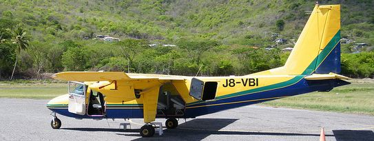 SVG Air at Lauriston Carriacou.