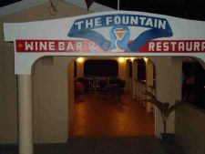 Fine wines and good food at the fountain restaurant and bar on Carriacou.