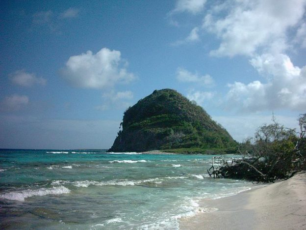 White Island rocky point.