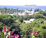View from Wilsons apartment on Carriacou.