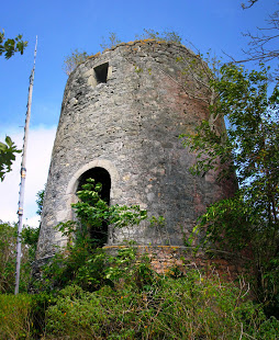 Reasonable well preserved windmill remains on Carriacou.