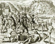 Fight between Spanish and Arawaks.