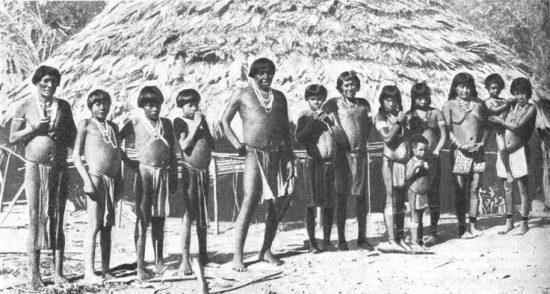 Arawaks tribe and housing.