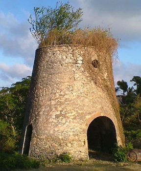 Sugar cane windmill ruin on Carriacou.