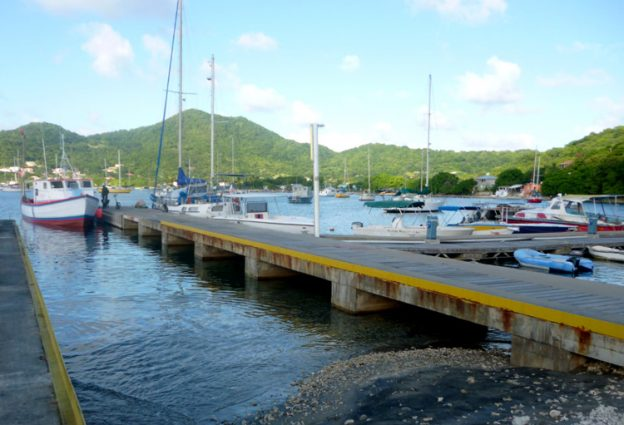 Dock at the Tyrell Bay boatyard.