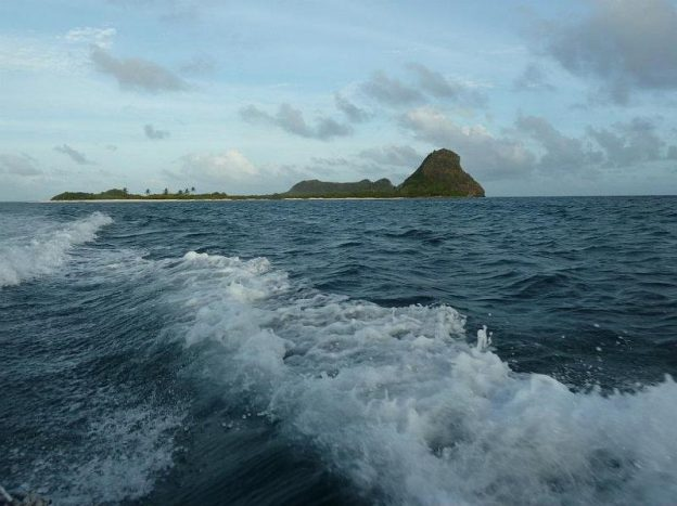 Leaving White Island with the water taxi.