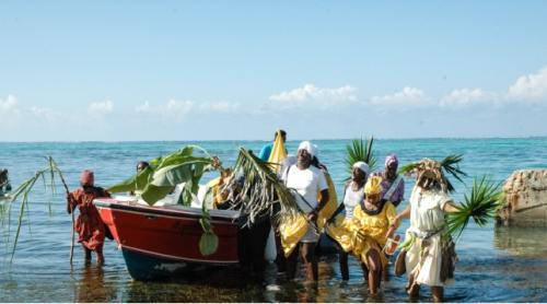 Celebration in Belize of Garifuna settlement day.