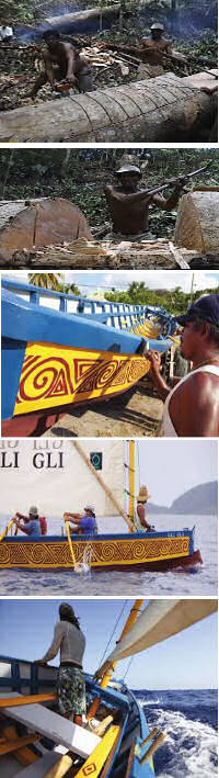 Traditional boat building, Carib Canoe on Dominica.