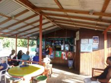 Hard wood bar on paradise beach.