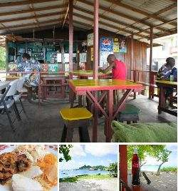 Hardwood bar and snacks - paradise beach carriacou.