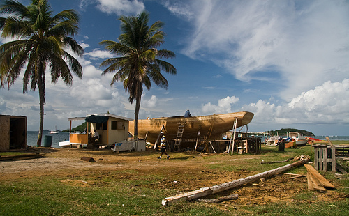 Building a wooden sloop on Carriacou.