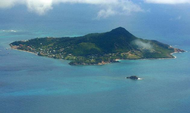 Petit Martinique seen from the air.