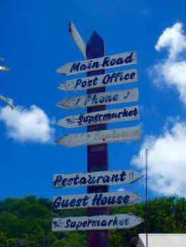 Sign on Petit Martinique.