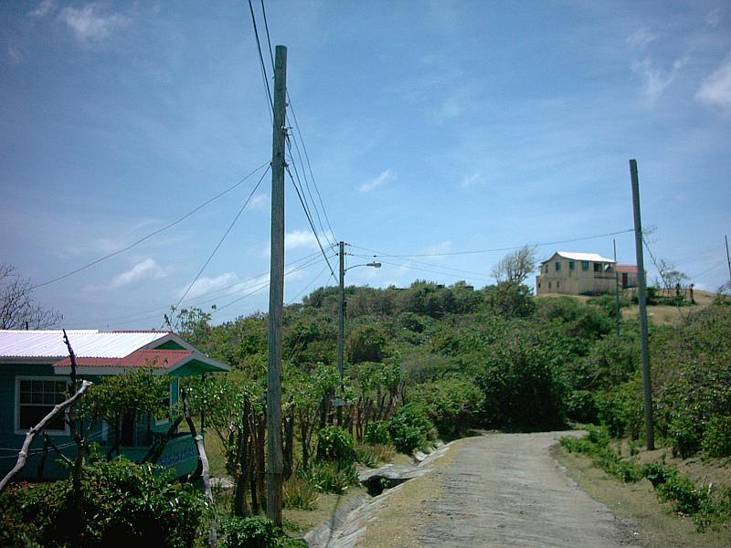 Hinking on Carriacou, Cassada bay road.