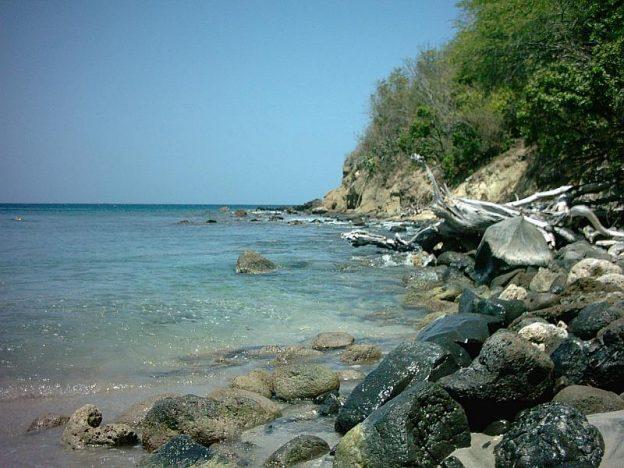 Snorkeling spot at Anse La Roche.