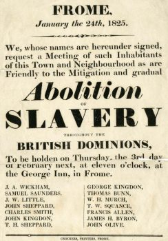 Poster anouncing abolishment of slavery.