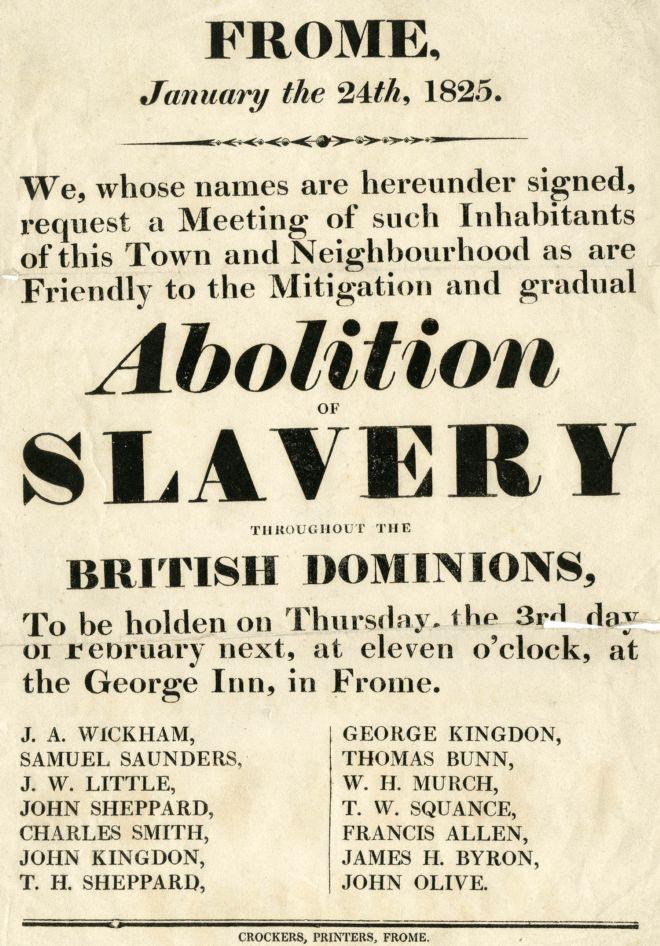Abolishment of slavery in the western world.
