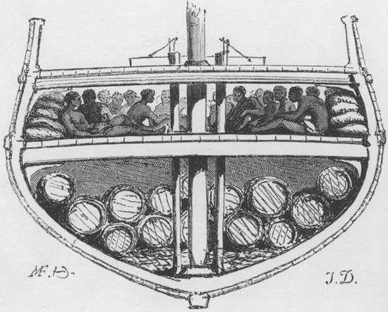Horrors of a slave ship
