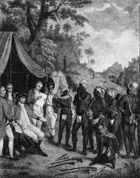 St. Vincent peace talks between black caribs and british.