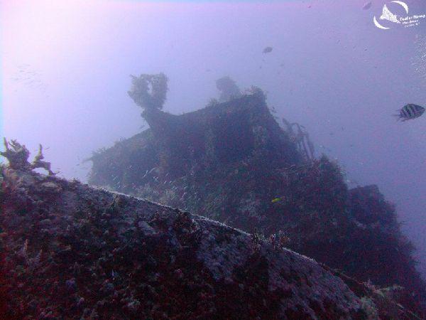 Westsider cabin, wreck diving at Mabouya island.