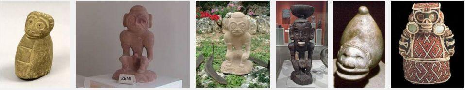 Stone carcings - Arawak Taino Zemi or Cemi.